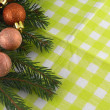 Christmas tree fir and balls — Stock Photo