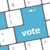 Vote button on computer keyboard key — Stock Photo