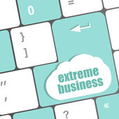 Extreme business words, message on enter key of keyboard — Stock Photo