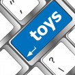 Toys word on computer keyboard pc key — Stock Photo