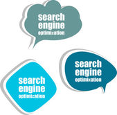 Search engine optimization. Set of stickers, labels, tags. Business banners, Template for infographics — Стоковое фото