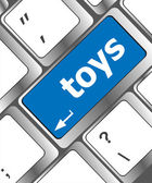Toys word on computer keyboard pc key — Stock fotografie