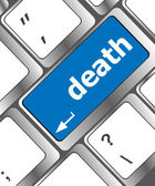 Keyboard key with death word button — Stock Photo