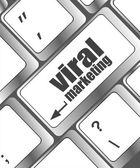 Viral marketing word on computer keyboard key, raster — Stock Photo