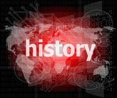 Time concept: history on digital background — Stock Photo