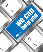 We can help you written on computer button — Stock Photo