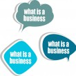 What is a business. Set of stickers, labels, tags. Business banners, Template for infographics — Stock Photo