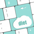Stock Photo: Health diet button on computer pc keyboard