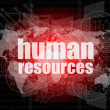 Human resources digital touch screen interface — Stock Photo