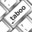 Computer keys spell out word taboo — Stock Photo #35612803