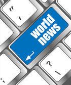 计算机键盘键的词语世界新闻 — 图库照片