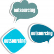 Outsourcing. Set of stickers, labels, tags. Business banners, Template for infographics — Stock Photo #35635039