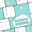 Business strategy - business concepts on computer keyboard — Stockfoto