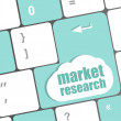Market research word button on keyboard — Stock Photo