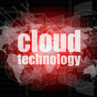 Words cloud technology on digital screen, information technology concept — Stock Photo #35637361