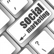 Social marketing or internet marketing concepts, with message on enter key of keyboard — Foto de Stock