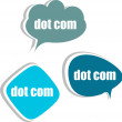 Stock Photo: Dot com. Set of stickers, labels, tags. Business banners, Template for infographics