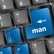 Man word on computer keyboard key — Stock Photo