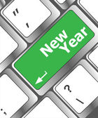 Happy new year message, keyboard enter key — Stock Photo
