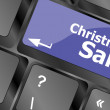 Christmas sale on computer keyboard key button — Стоковая фотография
