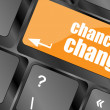 Chance to change key on keyboard showing business success — Stok fotoğraf
