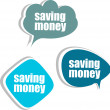 Saving money. Set of stickers, labels, tags. Business banners — 图库照片