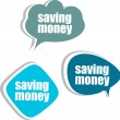 Stock Photo: Saving money. Set of stickers, labels, tags. Business banners
