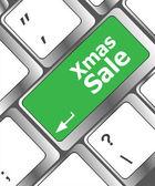 Computer keyboard with holiday key - xmas sale — Stock Photo
