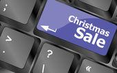 Christmas sale on computer keyboard key button — Foto de Stock