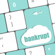 A keyboard with key reading bankrupt — Stock Photo