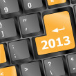 2013 Key On Keyboard. New year — Stock Photo