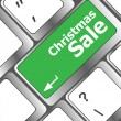 Christmas sale on computer keyboard key button — Stock fotografie