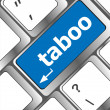 Keyboard computer keys with word taboo — Stock Photo #36213213
