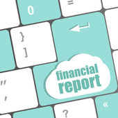 Keyboard key with financial report button — Stock Photo