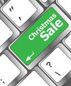 Christmas sale on computer keyboard key button — Φωτογραφία Αρχείου