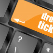 Dream ticket button on computer keyboard key — Zdjęcie stockowe