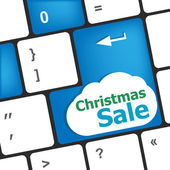 Christmas sale on computer keyboard key button — Stock Photo