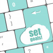Set goals button on keyboard - business concept — 图库照片