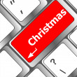 Christmas button on the keyboard key - holiday concept — 图库照片