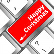 Merry christmas message, keyboard enter key button — Stock Photo #36464155