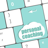 Keyboard key with enter button personal coaching — Stock Photo