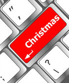 Christmas button on the keyboard key - holiday concept — Stock Photo