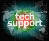 Tech support text on digital touch screen - business concept — Foto de Stock