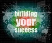 Başarı - dijital dokunmatik ekran arayüzü binası — Stok fotoğraf