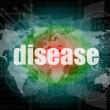 Disease words on digital touch screen interface — Stock Photo