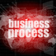 Business process word on digital screen, mission control interface hi technology — Stock Photo