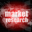 Pixeled word Market research on digital screen 3d — Stock Photo #36508103