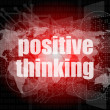 Positive thinking on screen - motivation business concept — Stockfoto