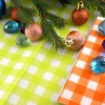 New year balls, christmas tree and stones set, holiday invitation card — Stock Photo #36510255