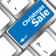 Christmas sale on computer keyboard key button — Foto Stock